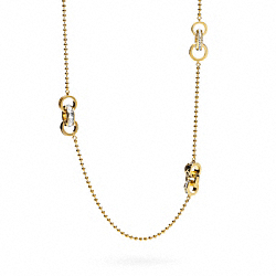 COACH KRISTIN RONDELL STATION NECKLACE - ONE COLOR - F95670