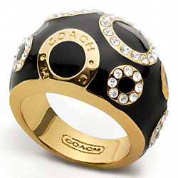 KRISTIN PAVE CIRCLE DOMED RING COACH F95676