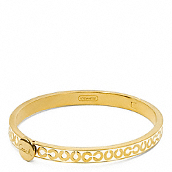 COACH THIN OP ART HINGED BANGLE - ONE COLOR - F95686