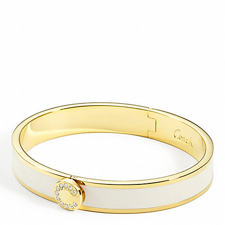 COACH THIN OP ART PAVE HINGED BANGLE -  - f95688