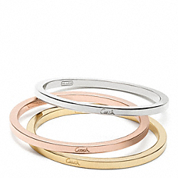 MIXED METAL STACKED BANGLE SET - f95736 - 20026