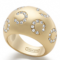 COACH PAVE OP ART DOMED RING - ONE COLOR - F95737