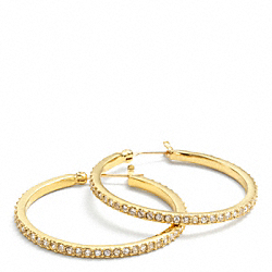 PAVE HOOP EARRINGS - f95791 - 13552