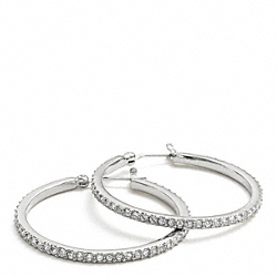 COACH PAVE HOOP EARRINGS - ONE COLOR - F95791