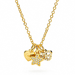 COACH BUTTERFLY STAR HEART NECKLACE - ONE COLOR - F95844