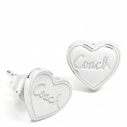 COACH HEART STUD EARRINGS - ONE COLOR - F95847