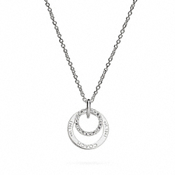 COACH STERLING COACH RING NECKLACE - ONE COLOR - F95848