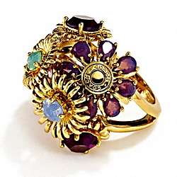 BOUQUET FLOWER RING COACH F95913