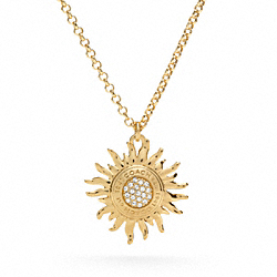 COACH SUNBURST PAVE NECKLACE - ONE COLOR - F95914