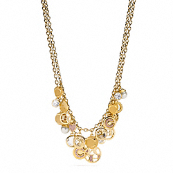 COACH MULTI CHARM BIB NECKLACE COACH F95926