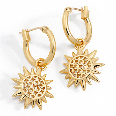 COACH SUNBURST DROP EARRINGS -  - f95927