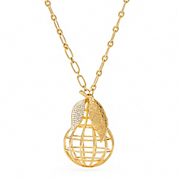 COACH PEAR NECKLACE - ONE COLOR - F95940