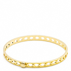 COACH SIGNATURE C PIERCED BANGLE - ONE COLOR - F95958