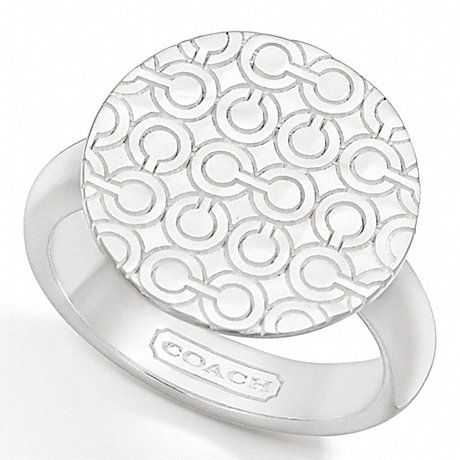 COACH STERLING OP ART DISC RING -  - f95999