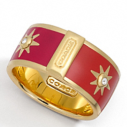 ENAMEL SUNBURST RING COACH F96022