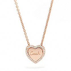 COACH F96041 - CONVERTIBLE HEART NECKLACE ONE-COLOR