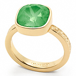 COACH SQUARE STONE RING - ONE COLOR - F96053