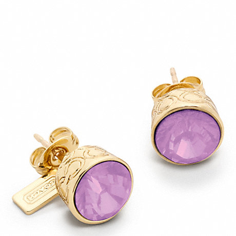COACH f96054 STONE STUD EARRINGS