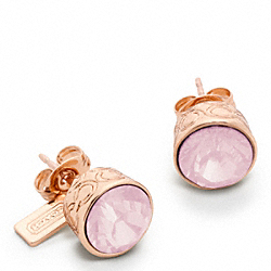 STONE STUD EARRINGS - f96054 - 20029