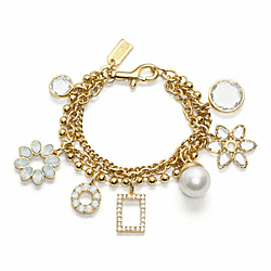 COACH MOTIF CHARM BRACELET - ONE COLOR - F96055