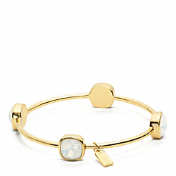 COACH SQUARE STONE BRACELET - GOLD/CLEAR - F96059