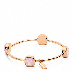 COACH SQUARE STONE BRACELET - ROSEGOLD/PINK - F96059