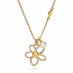 PAVE FLOWER NECKLACE COACH F96065