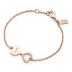 COACH LINKED HEART BRACELET - ONE COLOR - F96066