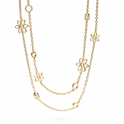 COACH DOUBLE STRAND FLOWER NECKLACE - ONE COLOR - F96067