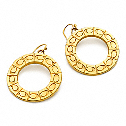 COACH SIGNATURE MEDALLION EARRINGS - ONE COLOR - F96076