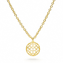 COACH MIRANDA PUFFY DISC NECKLACE - ONE COLOR - F96079