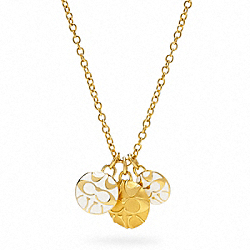 COACH MIRANDA TRIPLE DISC NECKLACE - ONE COLOR - F96082