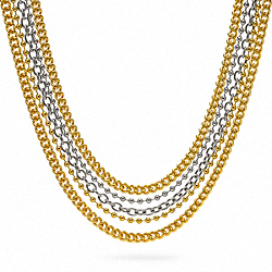 MULTI CHAIN NECKLACE - f96086 - 7147