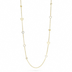 MULTI HEART STATION NECKLACE COACH F96101
