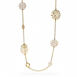 CORAL DISC STATION NECKLACE - f96111 - 9260