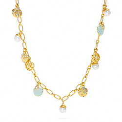 COACH MULTI SHELL LONG NECKLACE - ONE COLOR - F96117