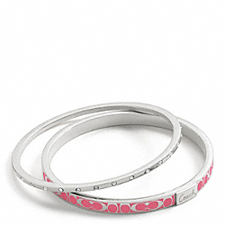 COACH THIN SIGNATURE C AND PAVE BANGLE SET - ONE COLOR - F96141