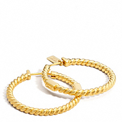 COACH ROPE HOOP EARRING - ONE COLOR - F96165