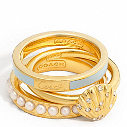 COACH SHELL STACKING RING - ONE COLOR - F96167