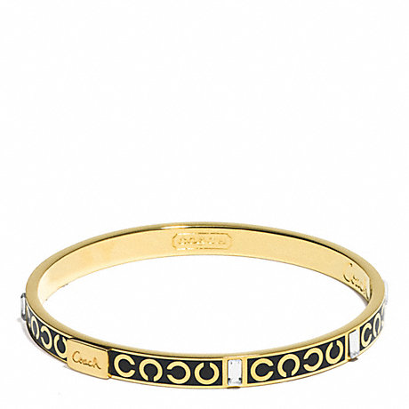 COACH THIN OP ART BAGUETTE BANGLE -  - f96184