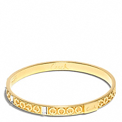 COACH F96184 - THIN OP ART BAGUETTE BANGLE ONE-COLOR