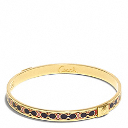 THIN HAMPTONS SIGNATURE C BANGLE - GOLD/VERMILLION - COACH F96188