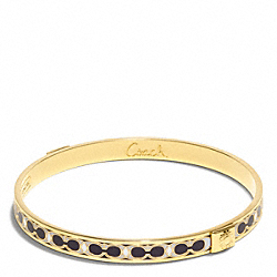 THIN HAMPTONS SIGNATURE C BANGLE - f96188 - GOLD/WHITE