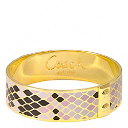 COACH THREE QUARTER SNAKESKIN BANGLE - ONE COLOR - F96196
