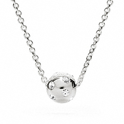 COACH STERLING PAVE BALL NECKLACE - ONE COLOR - F96203