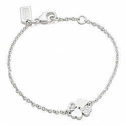COACH STERLING CLOVER BRACELET - ONE COLOR - F96204