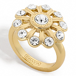 CRYSTAL FLOWER RING - f96216 - 24759