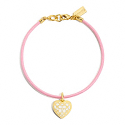 COACH MIRANDA HEART CORD BRACELET - ONE COLOR - F96225