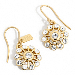 CRYSTAL FLOWER EARRINGS - f96229 - 24740