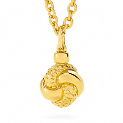 COACH KNOT CHARM NECKLACE - ONE COLOR - F96237